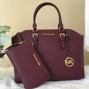 Michael Kors Large Ciara Satchel & wallet set